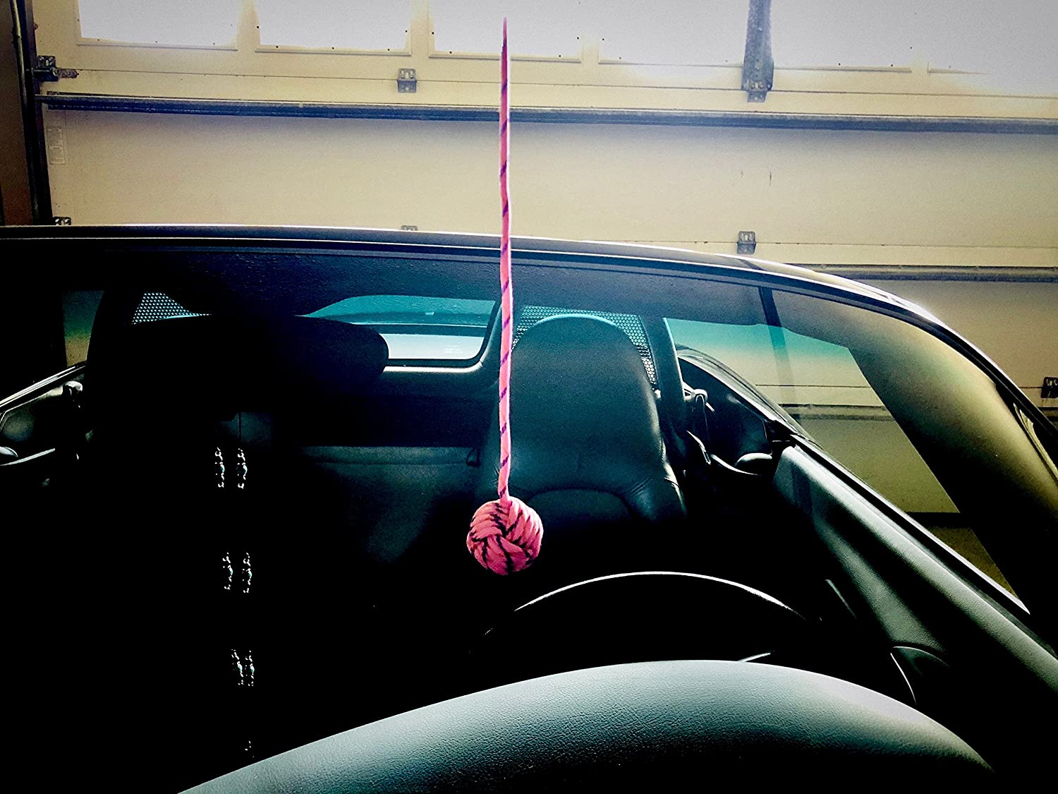 BallPahk Pink Adjustable Parking Aid Makes Parking in Your Garage Easy Quality Materials No Tools Installation Simple Fun Multi Color Design