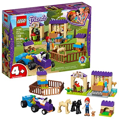 LEGO Friends 4+ Mia's Foal Stable 41361 Building Kit (118 Pieces): Toys & Games
