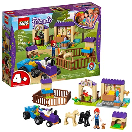 Amazoncom Lego Friends 4 Mias Foal Stable 41361 Building Kit