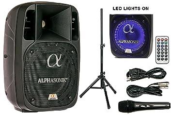 Amazon.com: Alphasonik - Parlante amplificado de 800W PRO DJ ...
