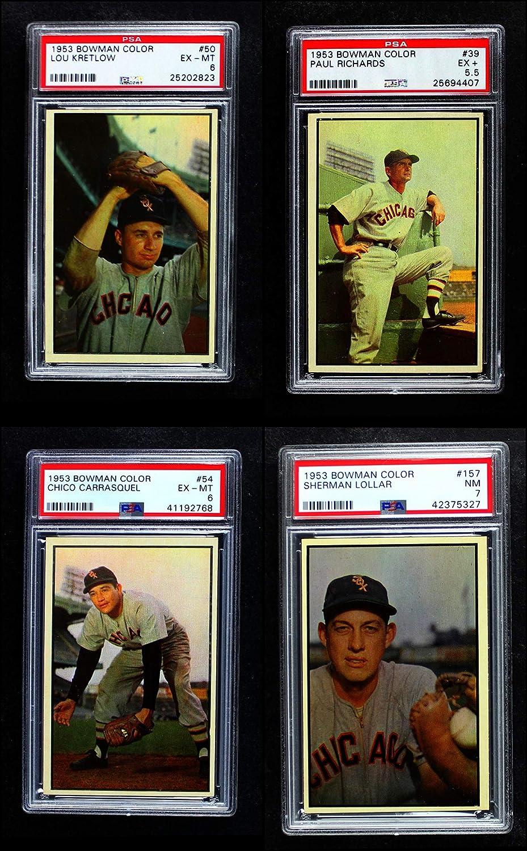 1953 Bowman Chicago White Sox Team Satz Chicago White Sox (Baseball Set) Dean'S Cards 6 - Ex/Mt White Sox