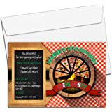 pizza making 68 party invitations childrens kids party invites pack