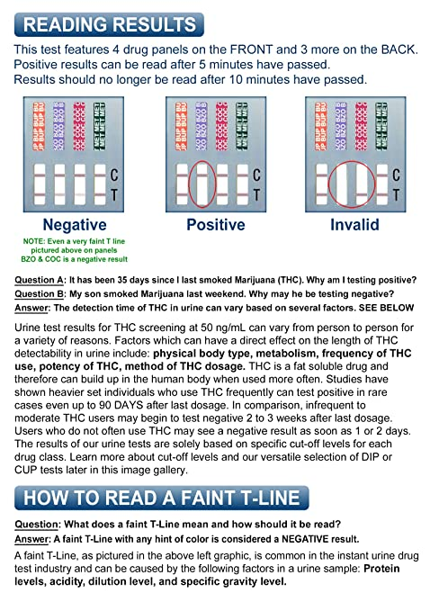 Negative Dilute Drug Test >> 15 Pack Identify Diagnostics 7 Panel Drug Test Dip With 3 Adulterants Ox Cre Ph Testing