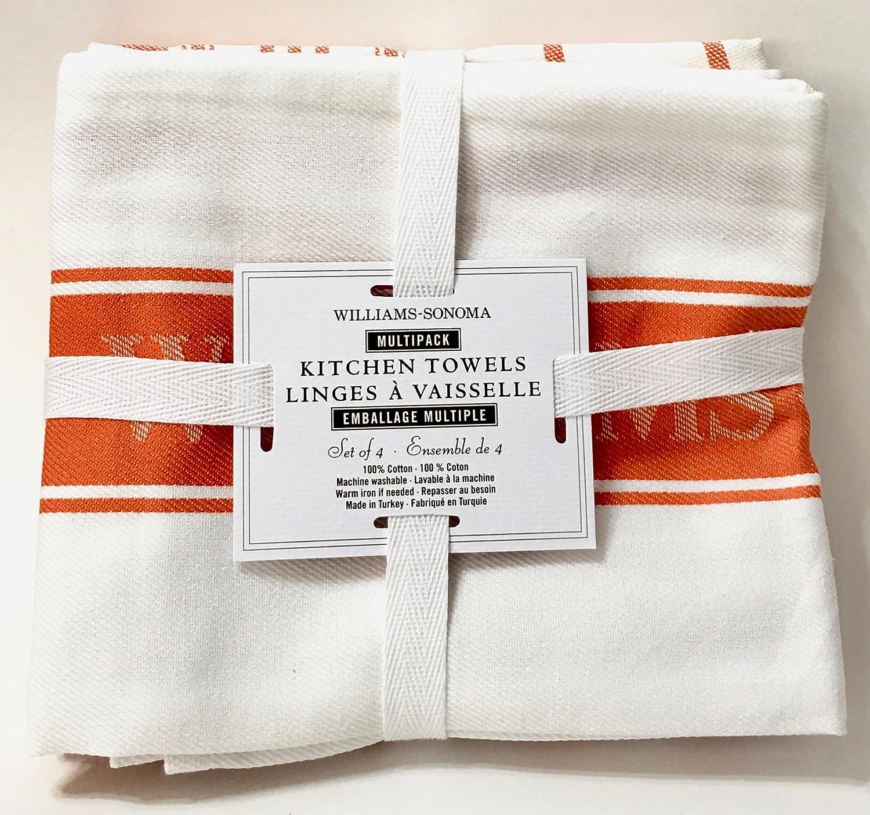 Amazon.com: Williams Sonoma Kitchen Towels (Set Of 4) (French Blue): Home U0026  Kitchen