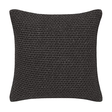 Vera Wang Heather Knit Throw Pillow, 20x20, Charcoal