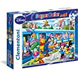 Clementoni 24464 - Disney Train Maxi Puzzle, 24 Pezzi