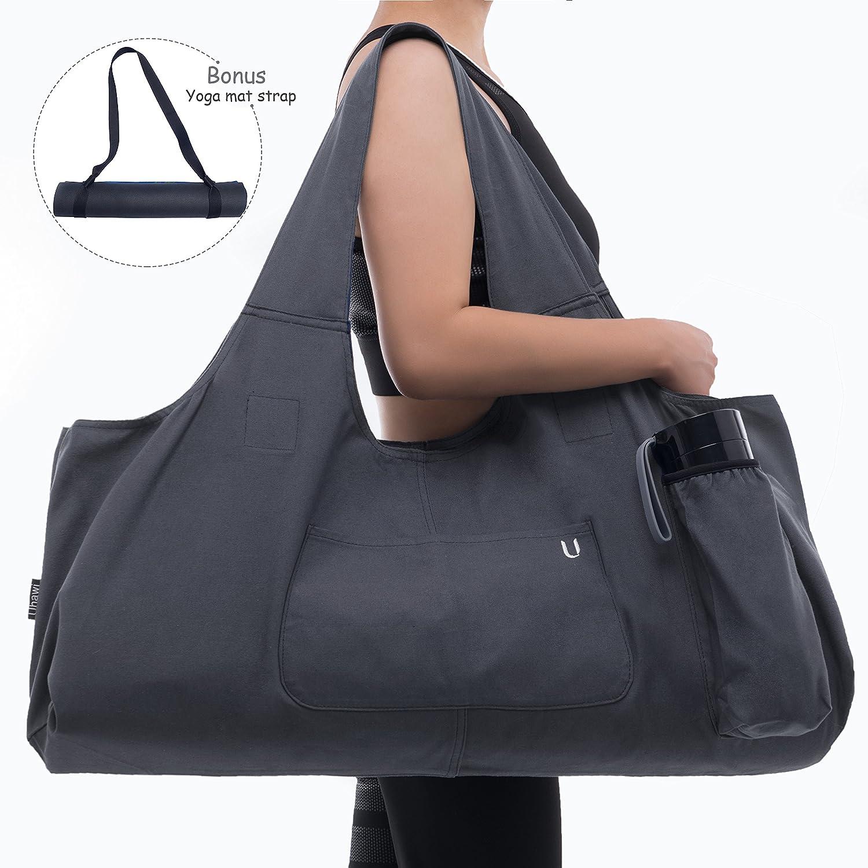 Uhawi Yoga Mat Bag Large Yoga Mat Tote Sling Carrier For
