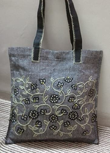 Amazon Com Panigha India Hand Embroidered Carry All Top Handle Tote