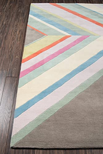 Novogratz Delmar Collection Ultralight Area Rug, 3 6 x 5 6 , Grey