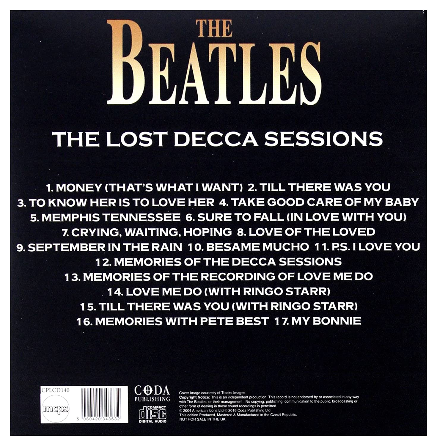 The Lost Decca Sessions And Other Gems The Lost Decca Sessions And