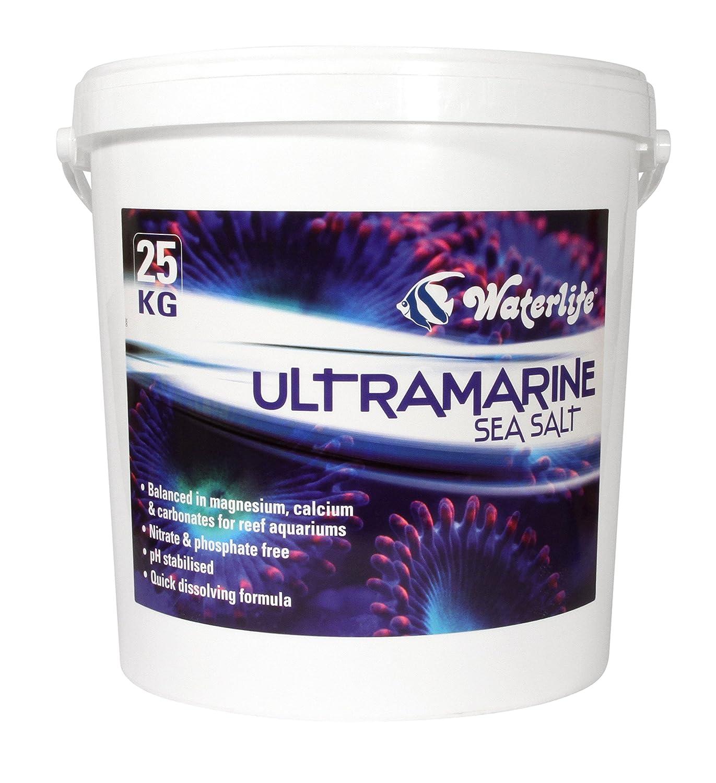25 KG Waterlife Ultramarine Sea Salt For Marine Coral Reef Aquarium Fish Tank 10KG, 25KG (25 KG)