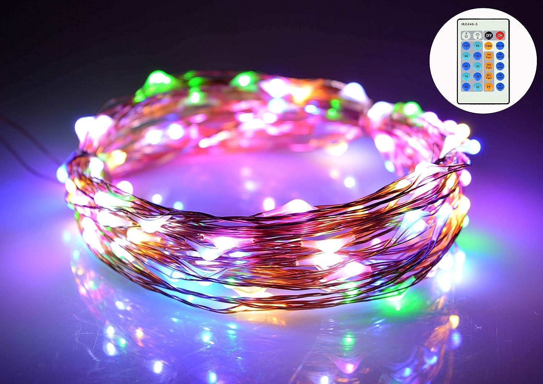 on sale O-Best 33Ft 10M 100 LEDs Copper Wire Lights Starry LED String Lights Decor Rope Lights ...