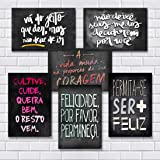 Kit Com 7 Placas Em Mdf - Frases Motivacionais - R+ Adesivos