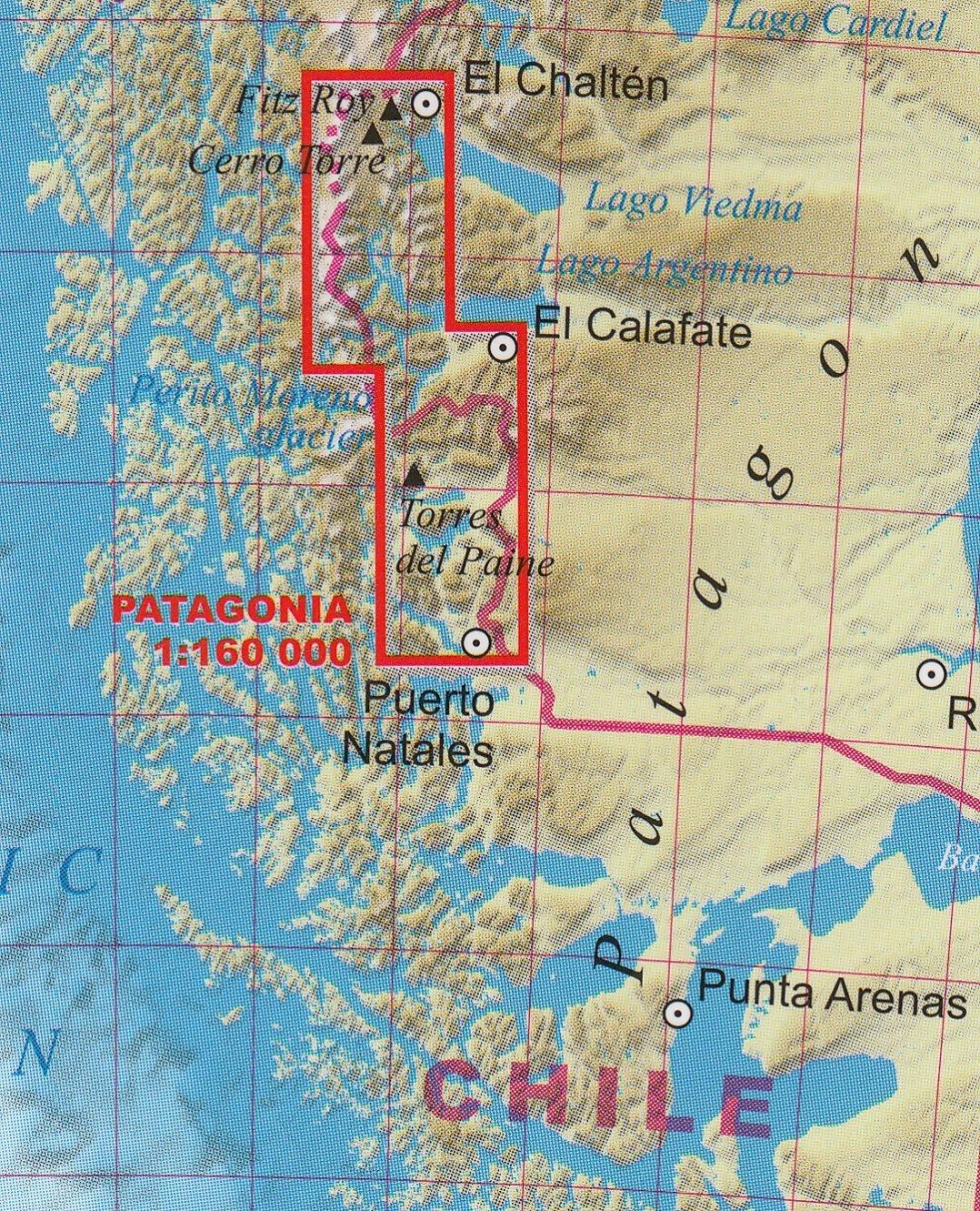 Patagonia Cartina Geografica.Amazon It Patagonia Trekking Mappa Topografica 1 160 000 Fitz Roy Cerro Torre Perito Moreni Glacier Torres Del Paine Terraquest Editions Libri
