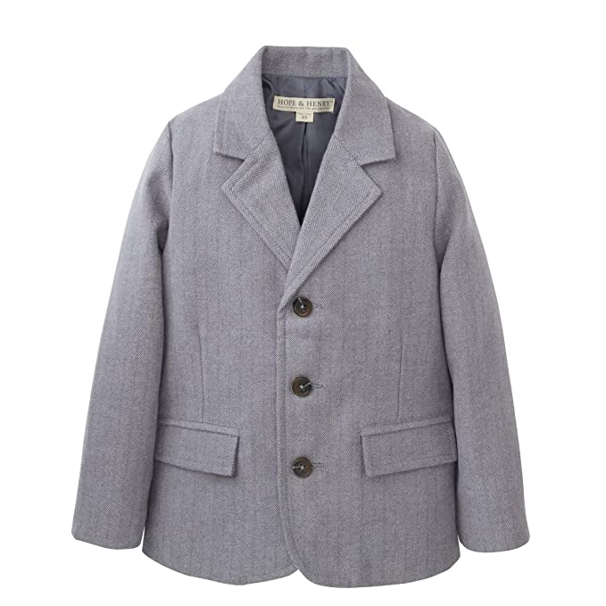 Vintage Style Children's Clothing: Girls, Boys, Baby, Toddler Hope & Henry Boys Herringbone Suit Jacket $39.95 AT vintagedancer.com