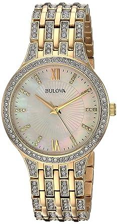 192f1d16a83 Amazon.com  Bulova Women s 98L234 Swarovski Crystal Gold Tone ...
