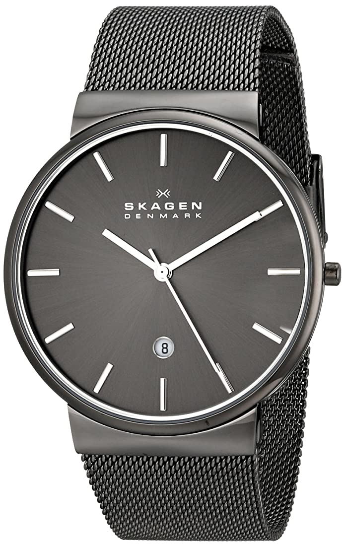 skagen mens ancher quartz stainless steel and mesh watch color: gray, (model: skw6108)