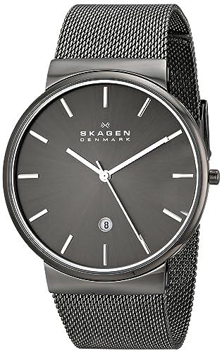 Skagen Reloj Hombre de Analogico con Correa en Chapado en Acero Inoxidable SKW6108: Skagen: Amazon.es: Relojes