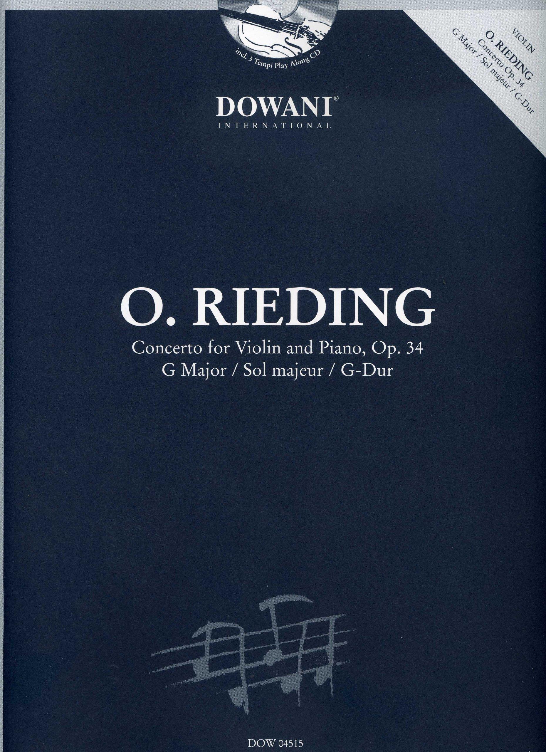 Concerto in G Major, Op. 34, for Violin and Piano W/ CD pdf epub