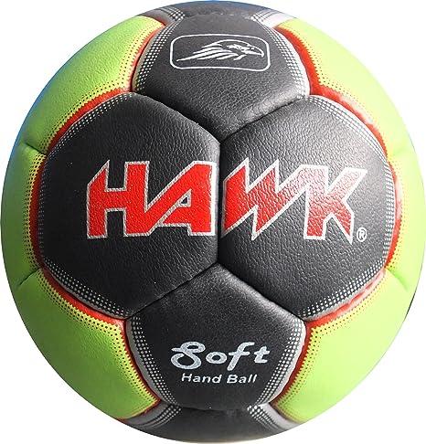 Hawk Sports handball-hk100 Pelota, Unisex Infantil, Verde/Negro, 2 ...