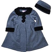 Good Lad Dressy Fleece Coat w/Black Velvet Trim. Matching Hat