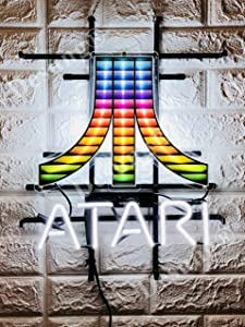 "Desung 19""x15"" Atari Arcade Video Game Room Neon Sign Light (MultipleSizes) HD Vivid Printing Technology Man Cave Beer Bar Pub Handmade Real Glass Tube Lamp NT32"