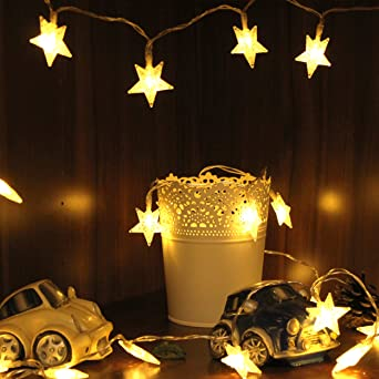 Lichterkette Sterne, von myCozyLite, LED Lichterkette mit Batterie ...