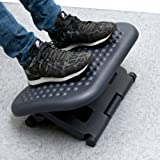 Mind Reader Adjustable Height Ergonomic Foot Rest, Black