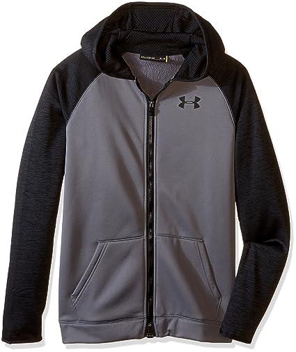 brand new 81f1d b6b4d Amazon.com  Under Armour Boys Storm Fleece Full Zip Hoodie  Clothing