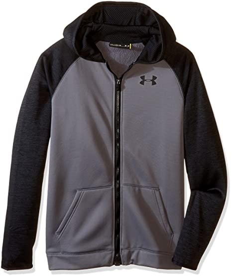 1ff471221 Under Armour Boys' Storm Armour Fleece Full Zip Hoodie, Graphite/Black,  Youth