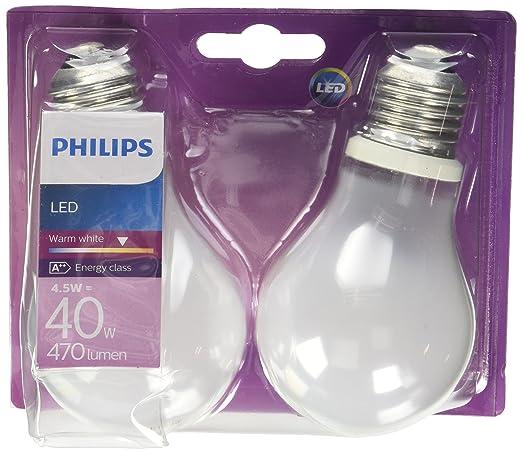 539 opinioni per Philips Lampadina LED Classic E27, 4.5 W Equivalenti a 40 W, Luce Bianca
