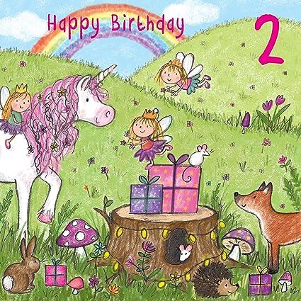 Twizler 2 nd Tarjeta de felicitación de cumpleaños para niña ...