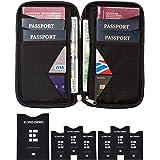 Custodia Porta Passaporti Famiglia - Portafoglio con Blocco RFID - Zero Grid