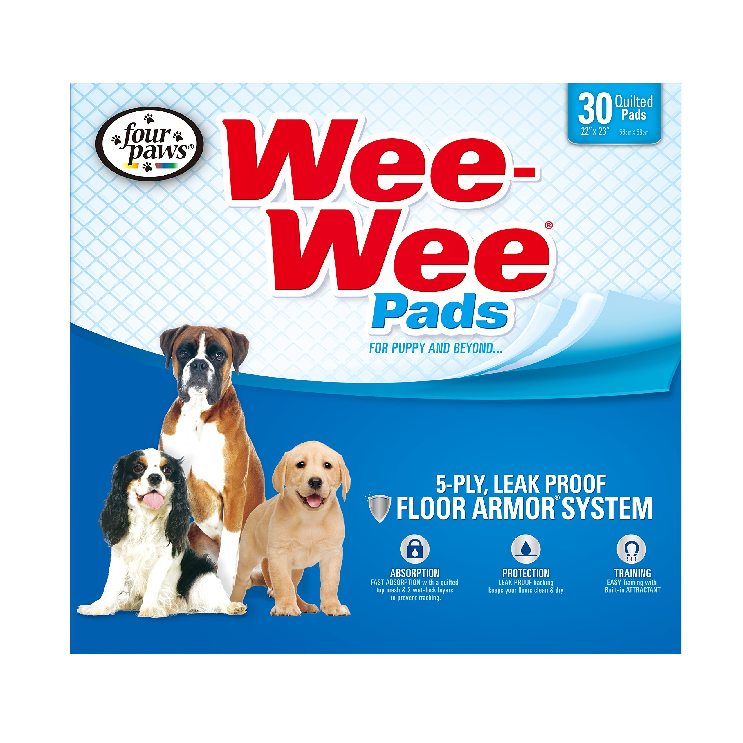 Four Paws Wee-Wee Standard Puppy Pads, 30 Ct