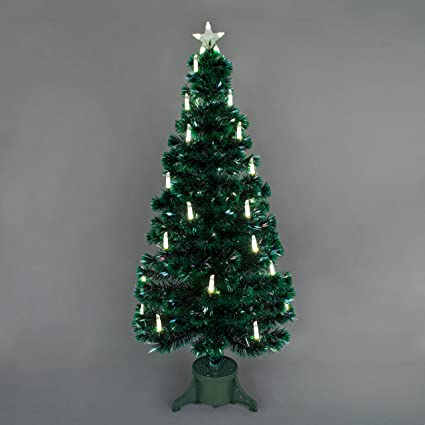 4ft Christmas Tree.Snowtime 4ft Warm White Candle Fibre Optic Christmas Tree