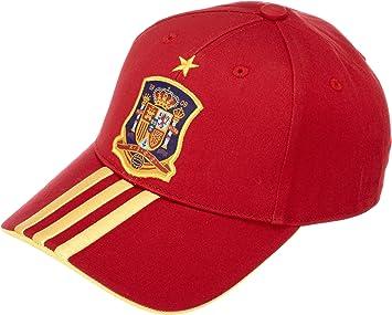 adidas Selección Española de Fútbol - Gorra Infantil, Color Rojo, Talla única: Amazon.es: Deportes y aire libre