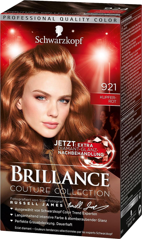 brillance Intensivo de color de crema 921 Cobre Rojo Nivel 3, 3 Pack (3 x 143 ml)