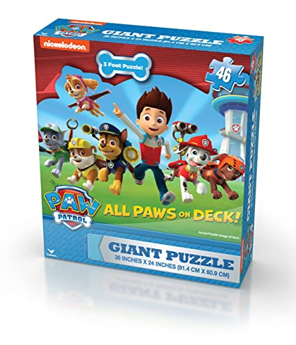 giant puzzle  : Paw Patrol Giant Puzzle (46-Piece): Toys & Games