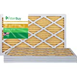 AFB Gold MERV 11 14x25x1 Pleated AC Furnace Air Filter. Pack of 4 Filters. 100% produced in the USA.