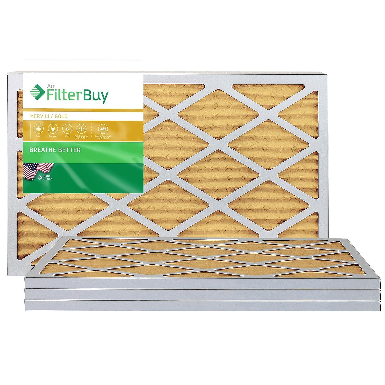 FilterBuy ファーネスフィルター エアフィルター ゴールド MERV 11 4個セット 14x24x1 AFB14x24x1M11pk4 4 B00CJZ9QOA