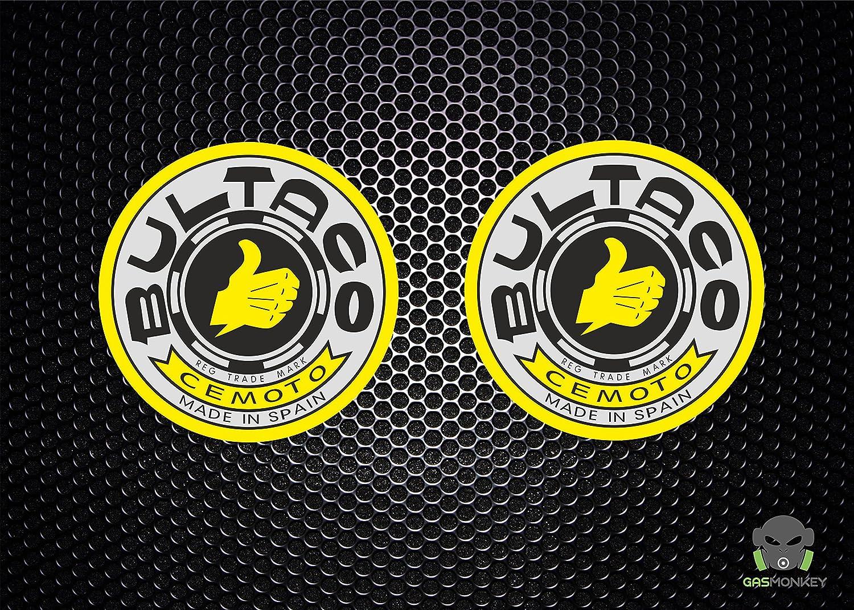 Bultaco pegatinas X 2: Amazon.es: Coche y moto