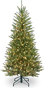 National Tree 4.5 Foot Dunhill Fir Slim Tree with Clear Lights