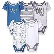 7dacb5a0f Lamaze Organic Baby Baby Organic Essentials 5 Pack Shortsleeve Bodysuits,  Grey Bear 3M