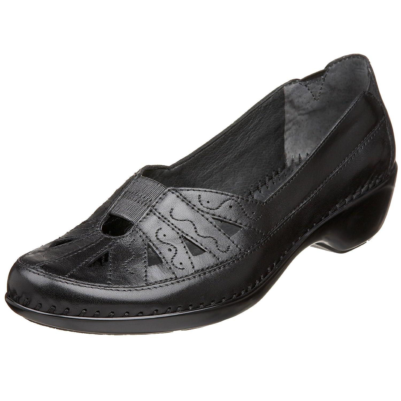 Easy Spirit 9.5 Women's Dixiee Flat B001BKIHXU 9.5 Spirit XW US|Black Leather 5a982a