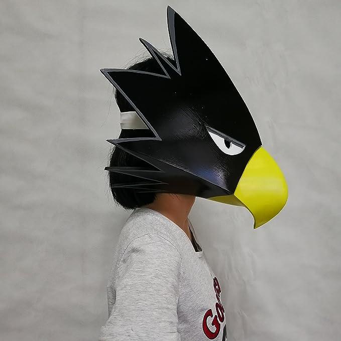 Amazon.com: Marrol My Hero Academia Tokoyami Fumikage Bird EVA Helmet Cosplay Prop Comic Con Full Face Halloween Mask Elastic Back Band: Clothing