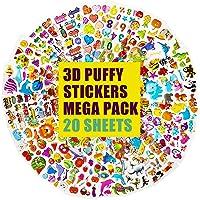 3D-stickers voor kinderen en peuters 500+ gezwollen stickers Bulkstickers voor kinderen voor scrapbooking Planners…