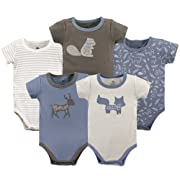 Yoga Sprout Cotton Bodysuit, 5 Pack, Forest, 6-9 Months