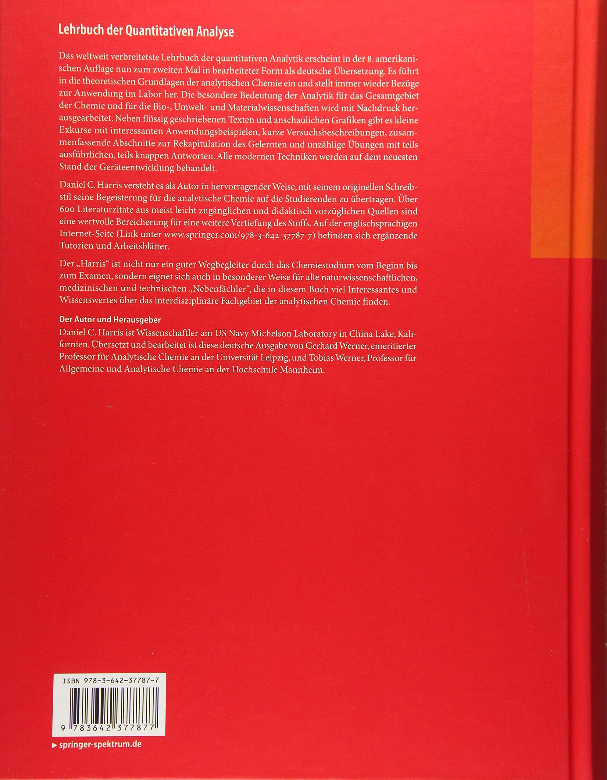 Lehrbuch der Quantitativen Analyse: Amazon.de: Gerhard Werner ...