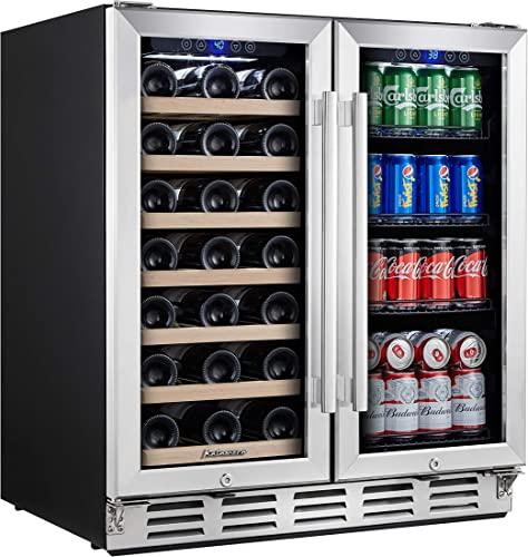 Kalamera-Wine-and-Beverage-Refrigerator---30-inch-with-Glass-Front-Door---Beer,-Wine,-Soda-And-Drink