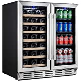 Kalamera Wine and Beverage Refrigerator - 30 inch with Glass Front Door - Beer, Wine, Soda And Drink Mini Fridge - Stainless